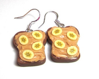 Peanut Butter And Banana Earrings
