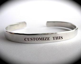 Custom  Bracelet, Personalized Gift, Hand Stamped Cuff, Personalized Jewelry, Custom Stamped Cuff, Handstamped Bracelet