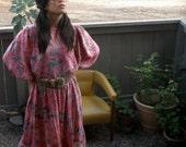 SALE- Late 70's-  80's Diane Freis Original Silk Dress