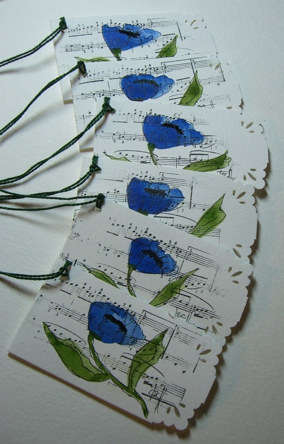 Hand Painted Gift Tags (H)