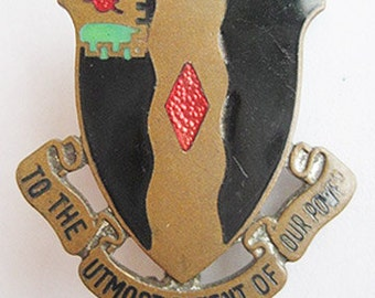 Vintage U.S. 60th Infantry Regiment Brass Enamel Military Pin