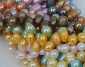 Dancing Pearl Freshwater Pearl muliple color 5X7mm BATCH SALE----5 full strands-------clearance