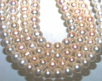 Full Strand of 8-9mm Round Potato Cultured Freshwater Pearl--15 inch A-AA Ivory White designs bridal-- Excellent Bargin#RS2003