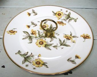 California Pottery Handled Serving Plate