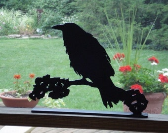 Crow on a Limb Silhouette