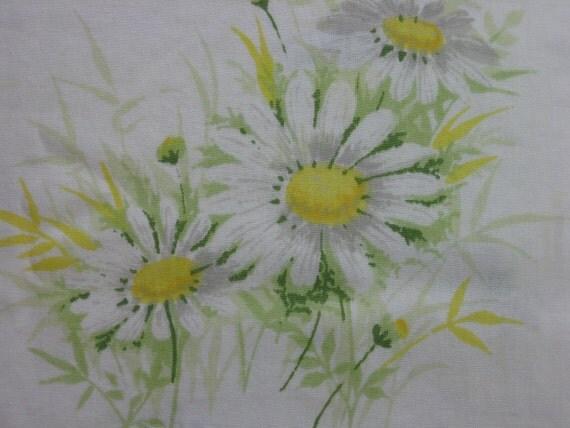 Vintage White Daisy Twin Flat Sheet