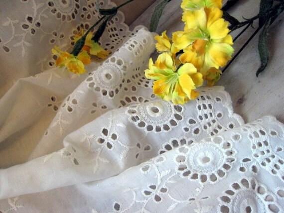 CUSTOM ORDER for Carol  1970's Vintgage Maxi White eyelet Wedding Beach Friendly modern wedding sundress Dress