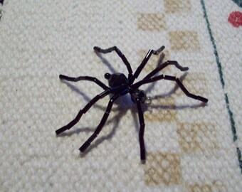 Beaded Spider Brooch or Pendant
