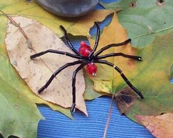 Beaded Spider Brooch\/Pendant