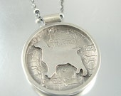 I Love My Spaniel Dog Sterling Necklace