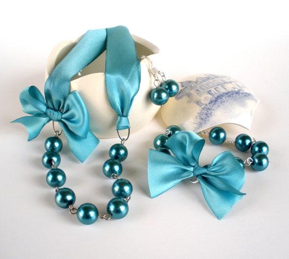 tiffany blue bridesmaid jewelry set