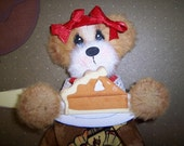 Thanksgiving Pumpkin Pie Boutique Tear Bear Paper Piecing Embellishment TPAB