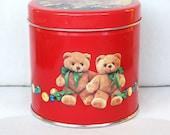 TEDDY BEAR CHRISTMAS Tin