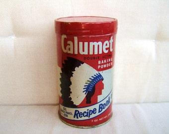 VINTAGE 1950s CALUMET BAKING POWDER TIN