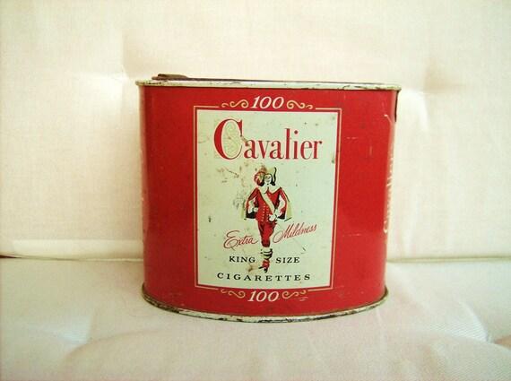 VINTAGE 1953 CAVALIER CIGARETTE TIN