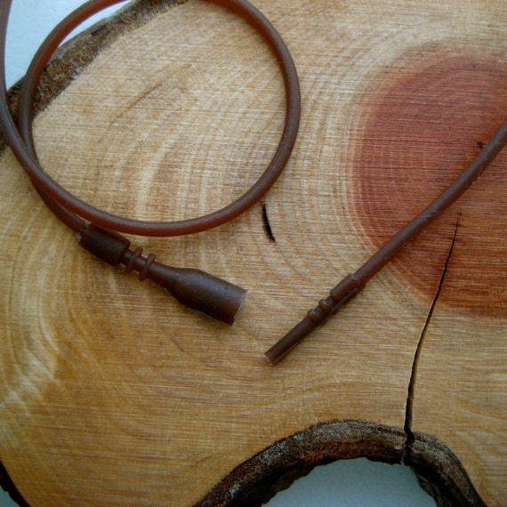 FREE SHIPPING - 16 or 18 inch brown silicone cord