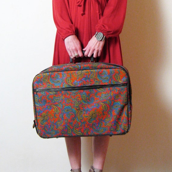 1970s PSYCHEDELIC PAISLEY suitcase