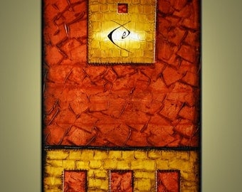 Contemporary abstract, modern art painting 36 inch Pazera