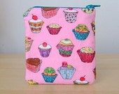 Pink Cupcake Zippered Pouch