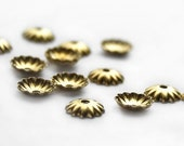 Bead caps - 6mm copper 40 pcs