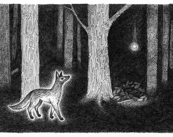 the fox and the secret - print
