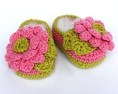 Baby Booties Crochet Pattern Big Flowers Crochet Shoes for Baby Girls shoes Digital Pattern Pdf crochet patterns