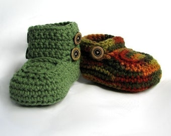 Boys Boots Crochet Pattern Crochet Booties Pattern Baby Shoes Booties for boys with buttons crochet baby fall colors