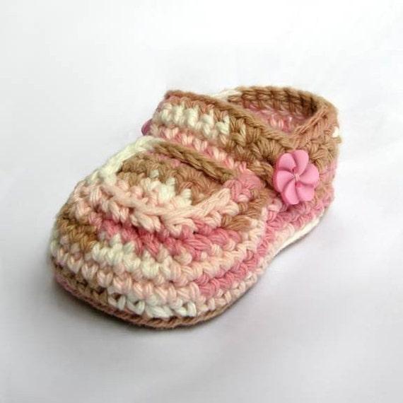 Crochet Booties Baby Neapolitan Pattern Girls Shoes