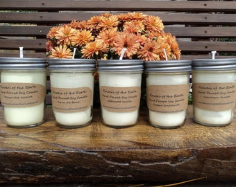 Hand Poured Soy Candles Set of 5 - 8 oz