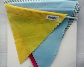 Red Yellow Blue and Stripey Bunting in Medium size