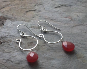Michelle - Cherry Quartz and Sterling Silver Earrings