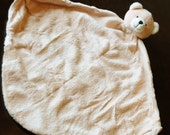 Monogrammed Personalized Bear Animal Blanket Lovey