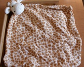 Monogrammed Personalized Giraffe Animal Blanket Lovey