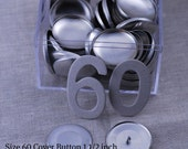 Size 60 Cover Buttons - Set of 50