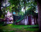 Mausoleums at Lake View Cemetery  - Fine Art Cemetery Photography 8x10