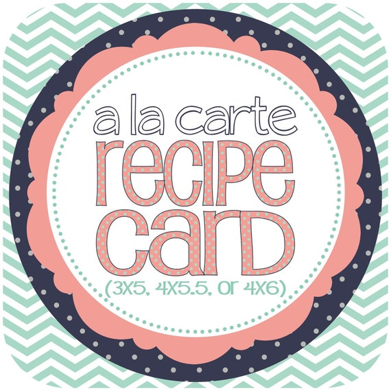 Recipe Card Bridal Shower Add-on, Printable File (print at home)