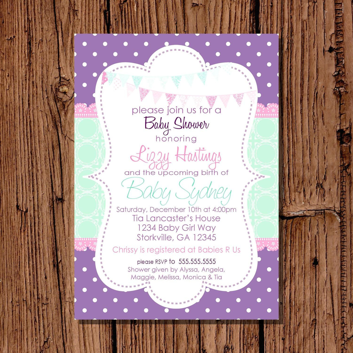 Owl Baby Shower Invitations Etsy – Baby Shower Invitations Samples Free