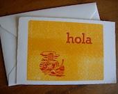 Hola Summer Pool Single Letterpress Card