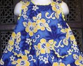 Baby girl Hawaiian Criss Cross Dress