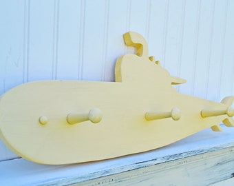 Little Boys Room Submarine Coat Rack