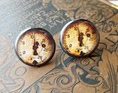 Steampunk cufflinks wedding antique RUSTY gauge industrical mechanical rusty vintage machinery parts