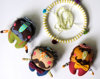Baby Mobile ---  Mustache Men --- Cutomize Their Colors to Match Your Nursery