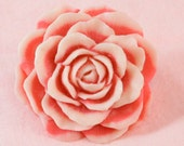 Lovely pink and White Rose Ring Very Big