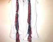 The Sailing Seasons.. Fun and furry scarf belt........Handmade