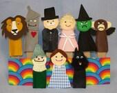 Wizard of Oz Felt Finger Puppets