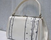 patent leather purse with birch tree