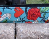 On SaLe...Tuff Luck Tattoo Funky Camera Strap for your dSLR Canon Nikon Sony Pentax
