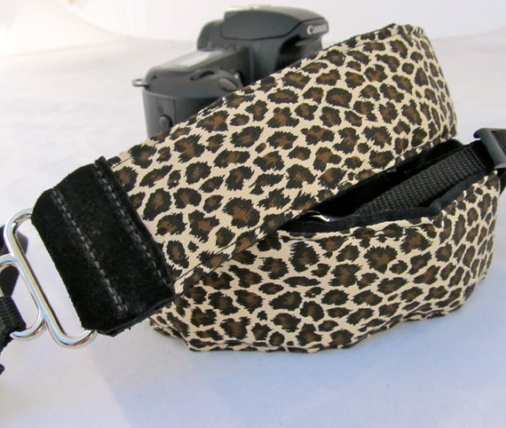 Cheetah Print DSLR Camera Strap