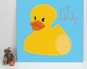 Just Ducky, art print