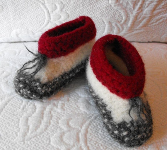 Slippers Baby Wool Hand Knitted Booties